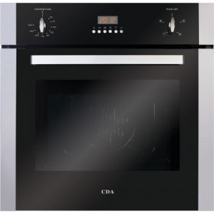 CDCDA BUILT-IN 600MM STAINLESS STEEL FAN OVEN WITH CLOCK OFFER £365 FITTED